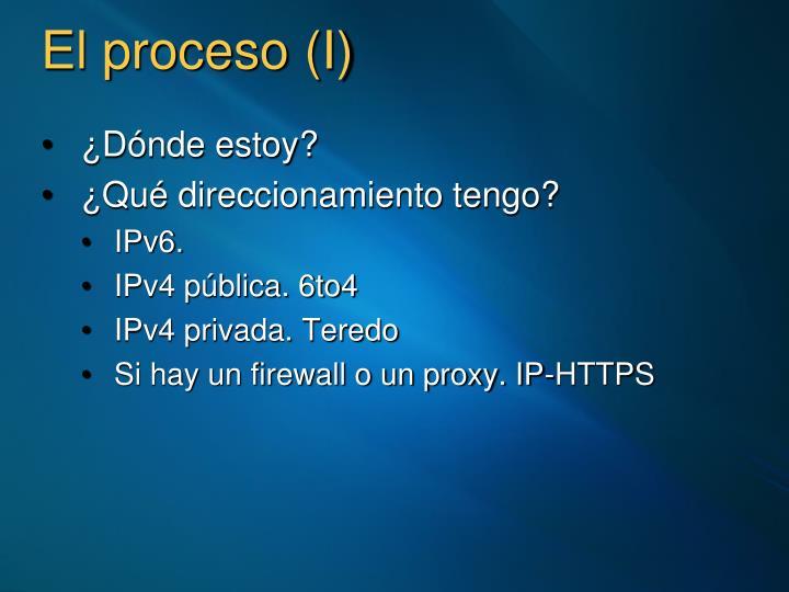 El proceso (I)