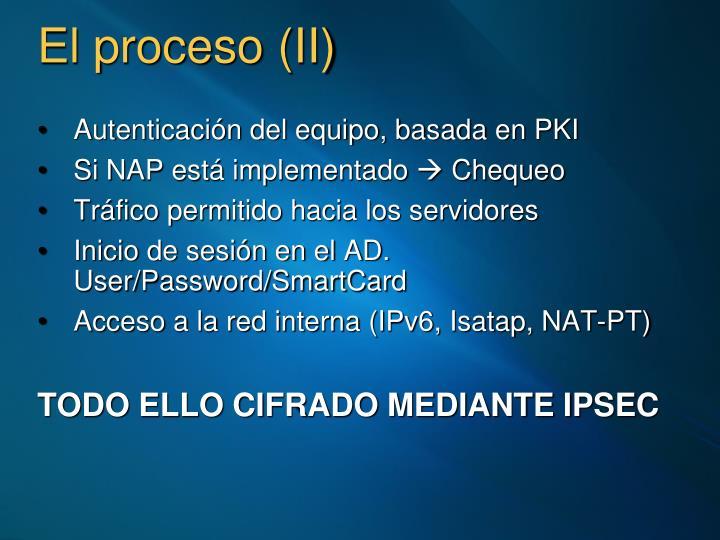 El proceso (II)