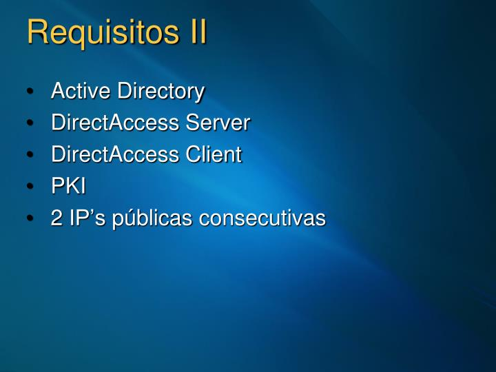 Requisitos II