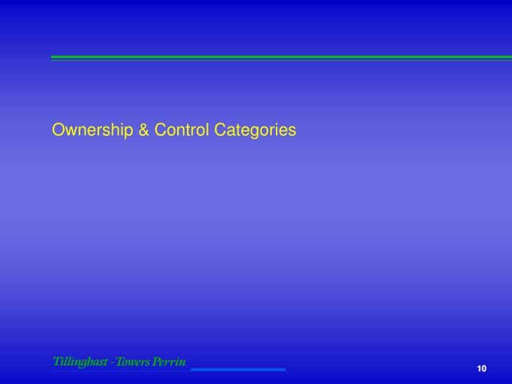 Ownership & Control Categories