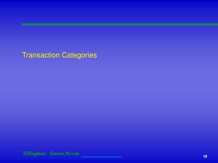 Transaction Categories