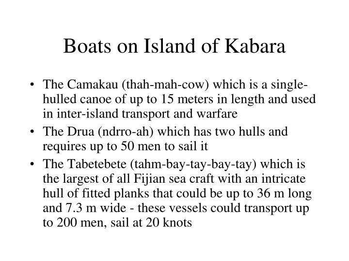 Boats on Island of Kabara