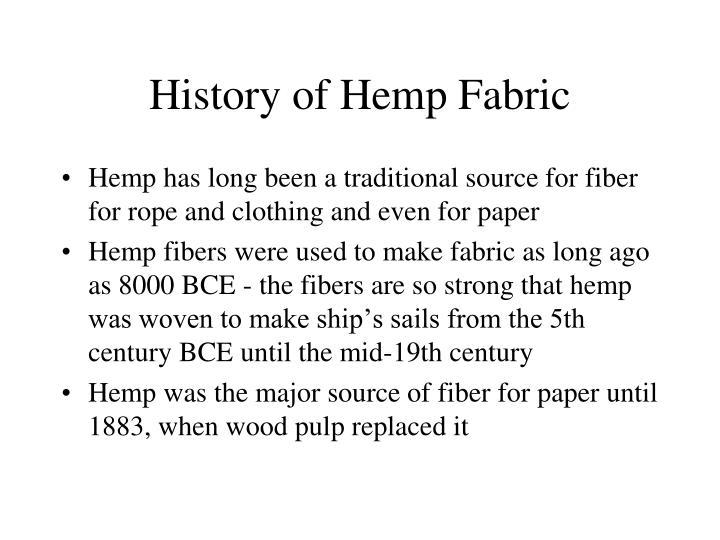 History of Hemp Fabric