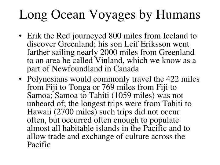 Long Ocean Voyages by Humans