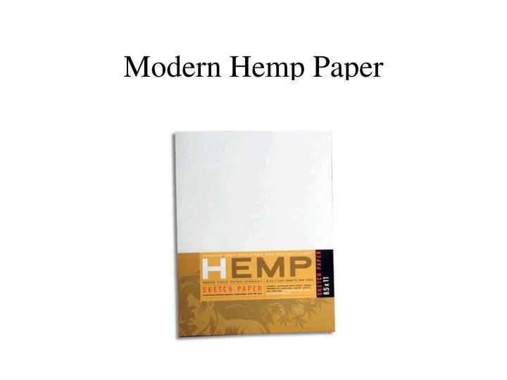 Modern Hemp Paper