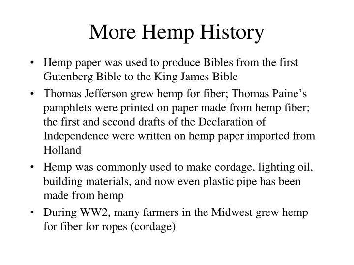 More Hemp History