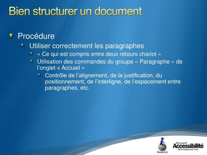 Bien structurer un document