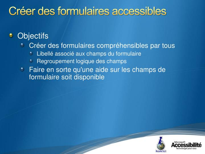 Créer des formulaires accessibles