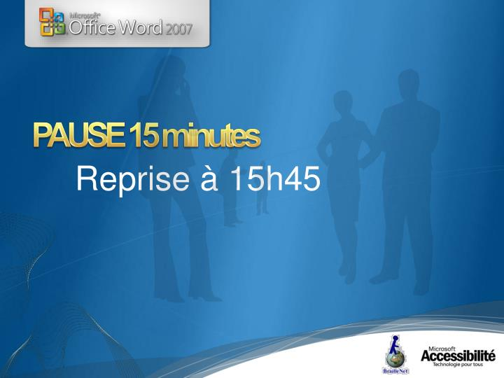 PAUSE 15 minutes