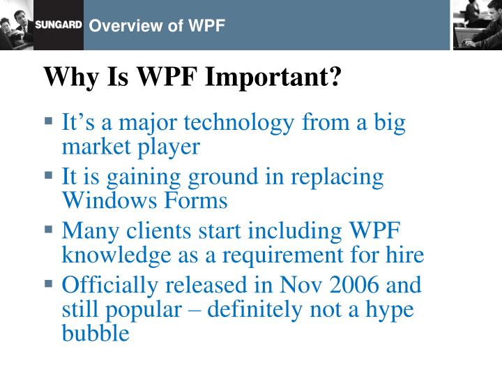 Overview of wpf2