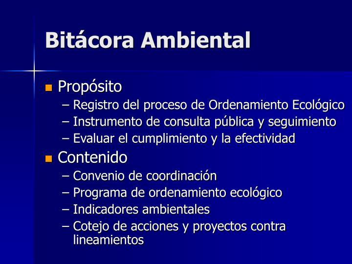 Bitácora Ambiental