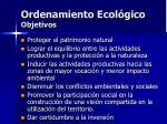 ordenamiento ecol gico objetivos