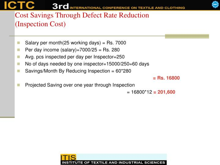 Cost Savings Through Defect Rate Reduction
