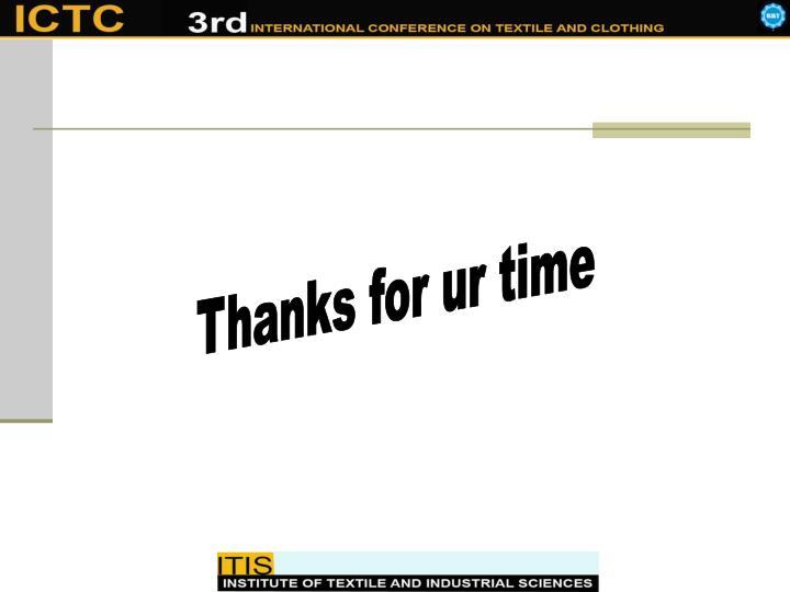 Thanks for ur time