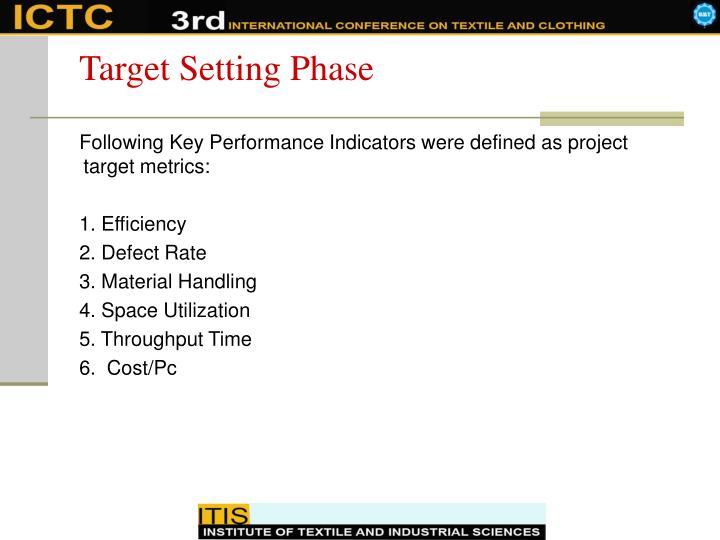 Target Setting Phase