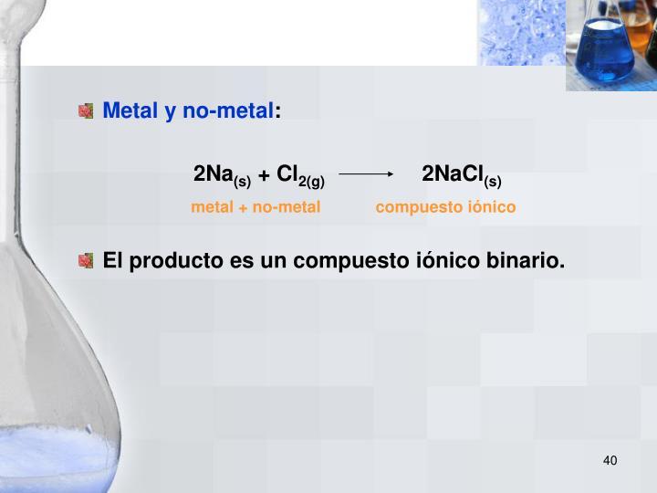 Metal y no-metal