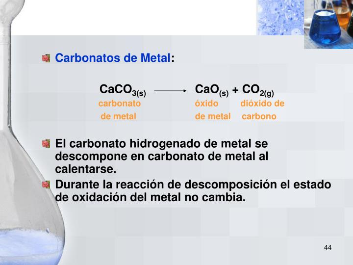 Carbonatos de Metal