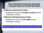 the functional currency concept presumed types of foreign operations