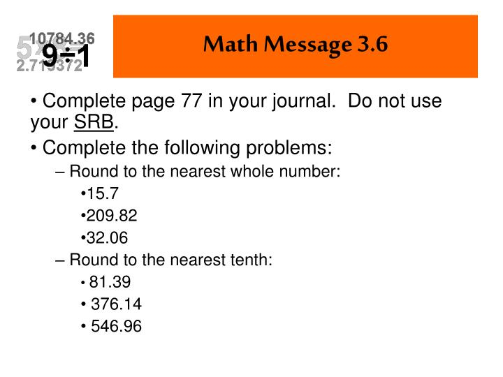 Complete page 77 in your journal.  Do not use your