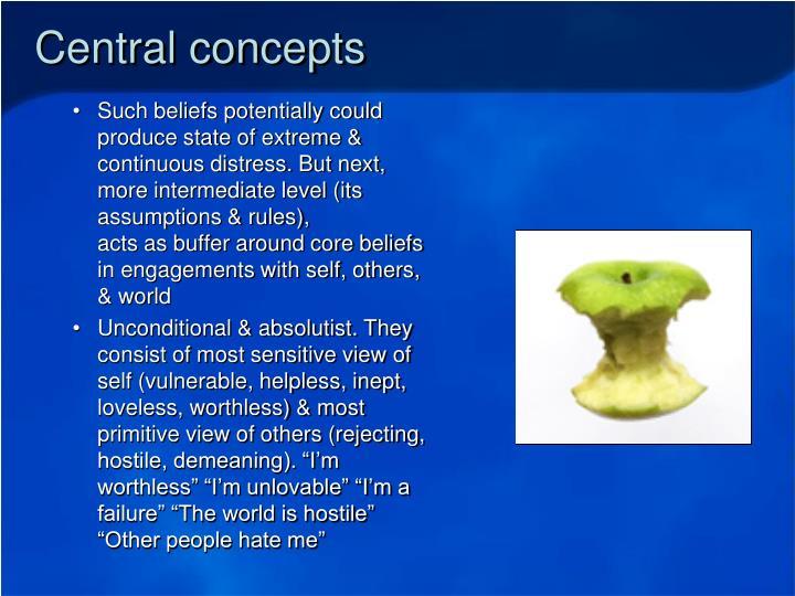 Central concepts