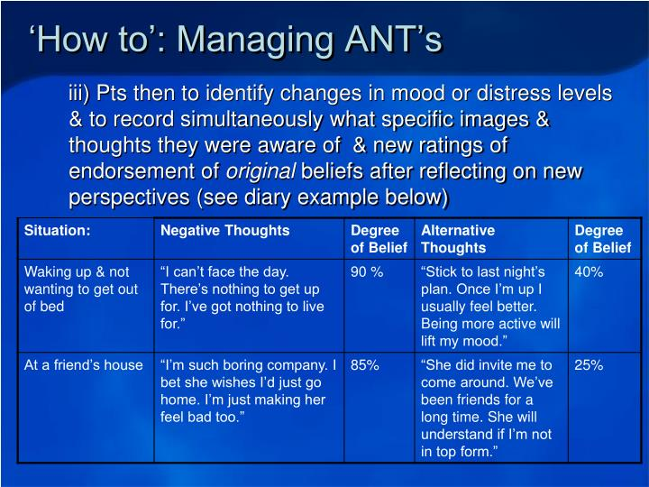 'How to': Managing ANT's