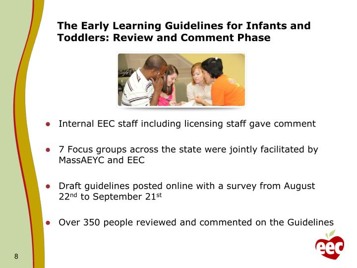 The Early Learning Guidelines for Infants and Toddlers: Review and Comment Phase