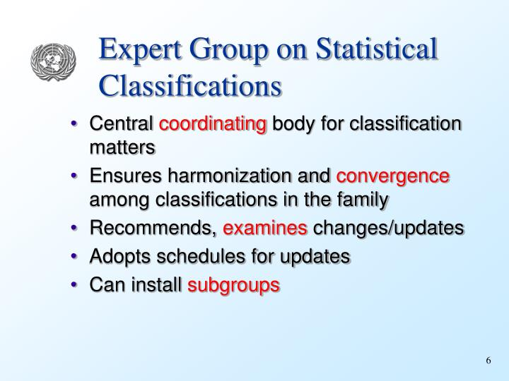 Expert Group on Statistical Classifications
