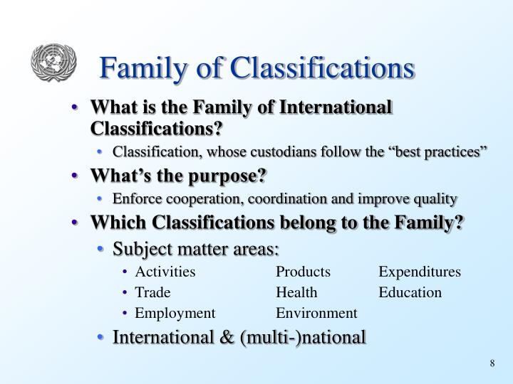 Family of Classifications