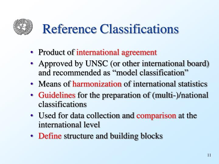Reference Classifications