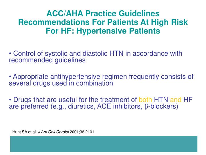 ACC/AHA Practice Guidelines