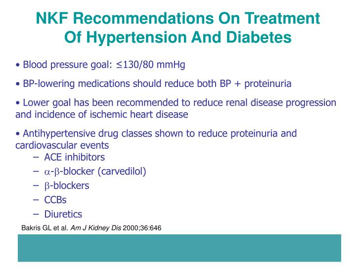 NKF Recommendations On Treatment