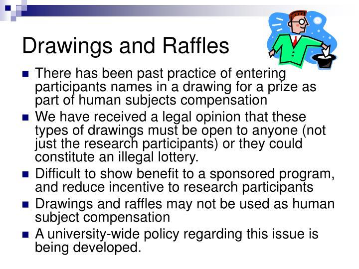 Drawings and Raffles