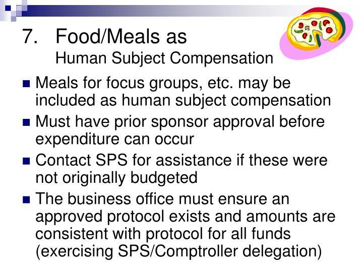 Food/Meals as