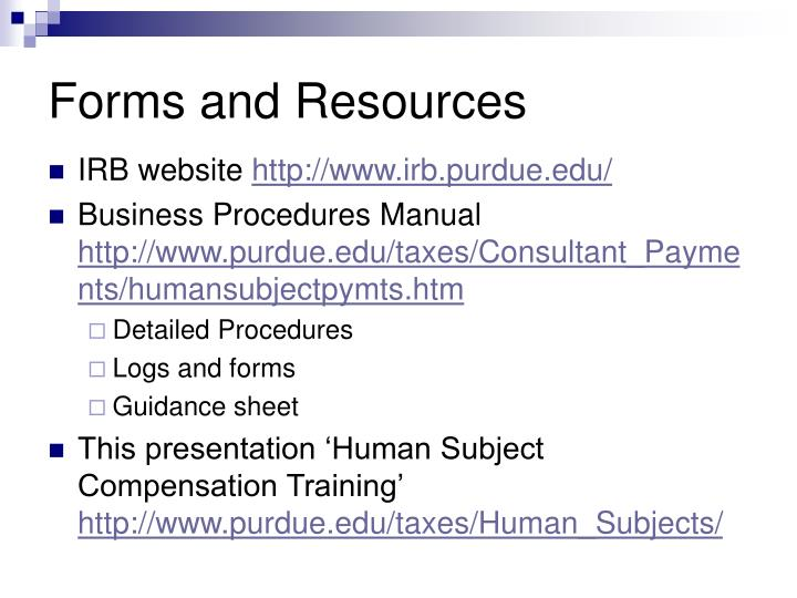 Forms and Resources