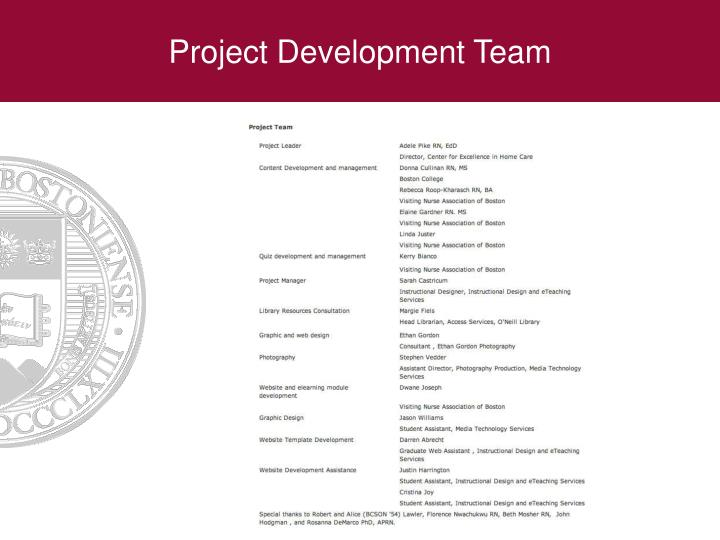 Project Development Team
