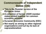 commonwealth of independent states cis
