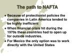 the path to nafta