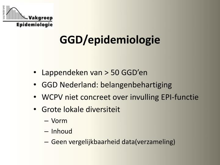 GGD/epidemiologie
