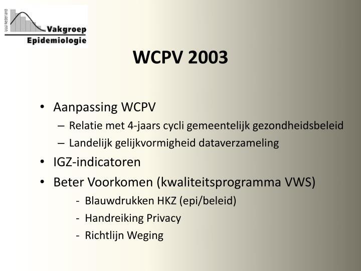 WCPV 2003