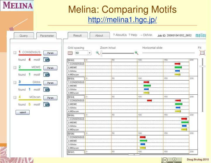 Melina: Comparing Motifs