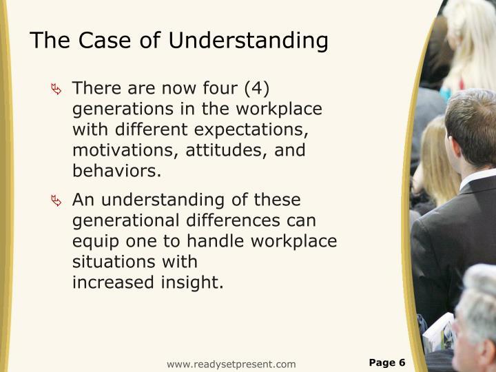 The Case of Understanding