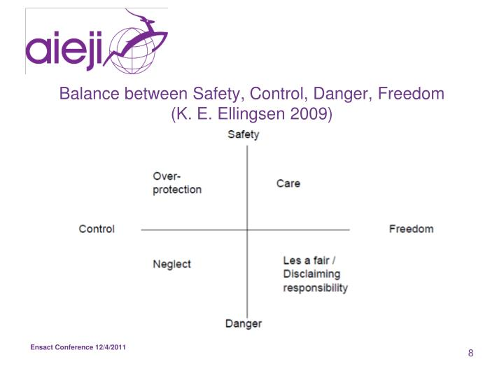 Balance between Safety, Control, Danger, Freedom