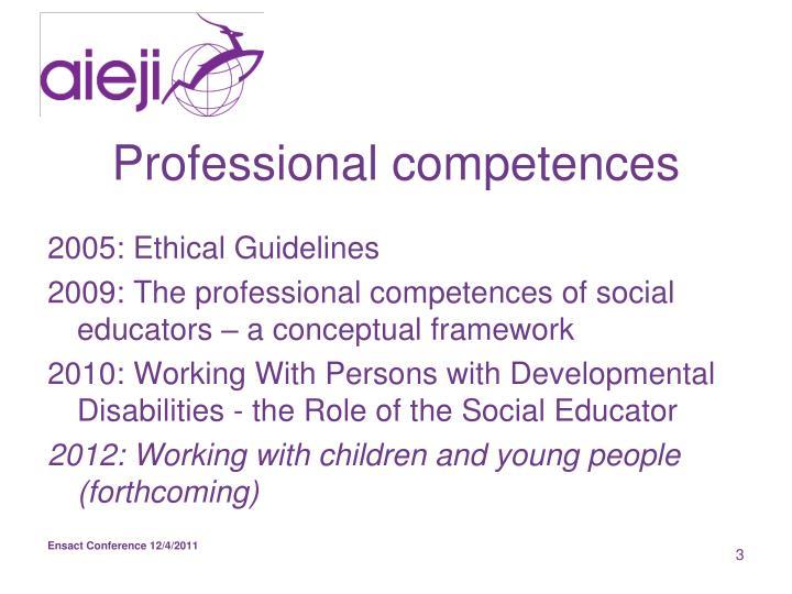 Professional competences