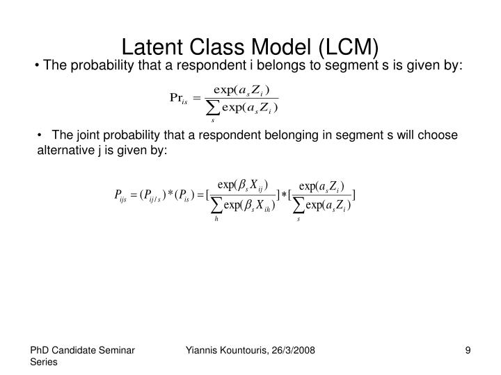 Latent Class Model (LCM)