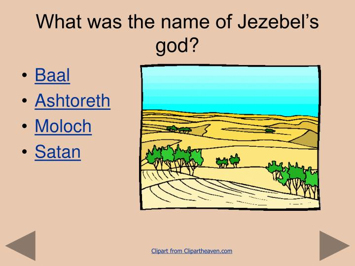 What was the name of Jezebel's god?