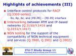 highlights of achievements iii