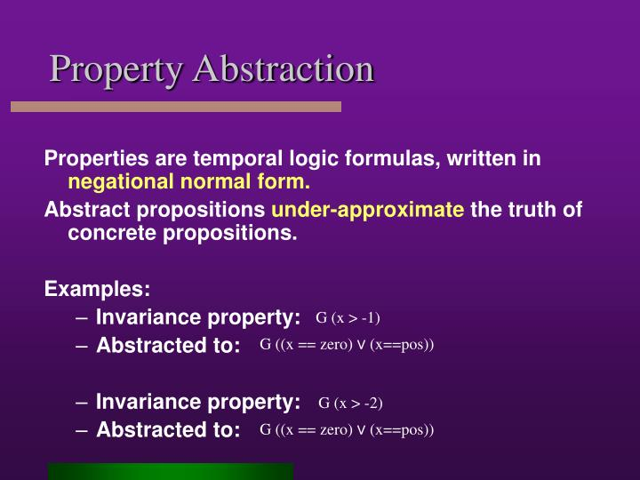 Property Abstraction