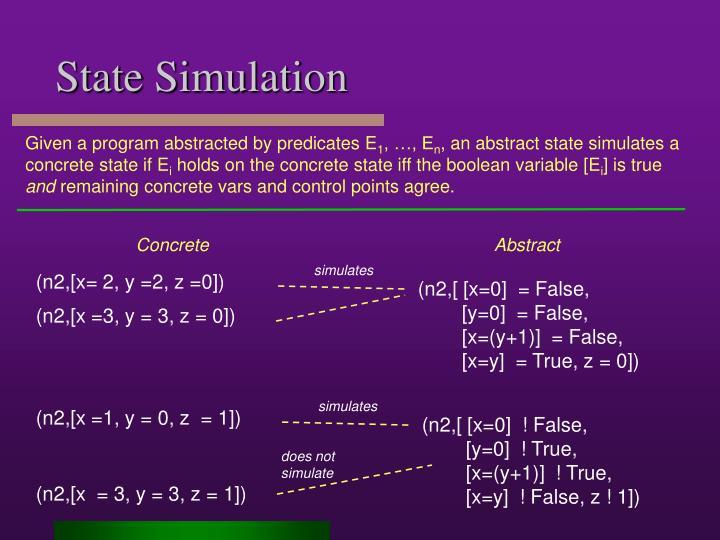 simulates