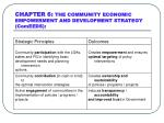chapter 6 the community economic empowerment and development strategy comeeds