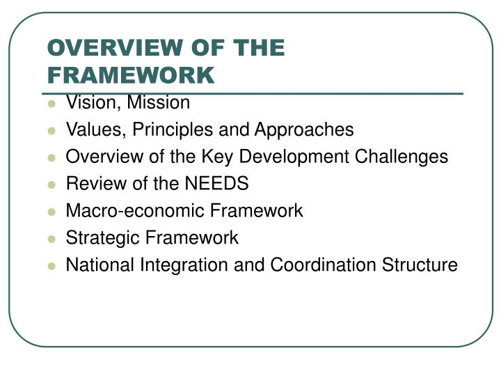 Overview of the framework